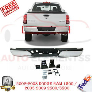 Rear Step Bumper Chrome Steel For Dodge Ram 1500 02 2008 2500 3500 03 2009