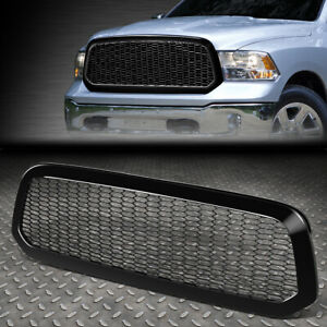 For 13 19 Ram 1500 Classic honeycomb Mesh Glossy Front Hood Bumper Grille