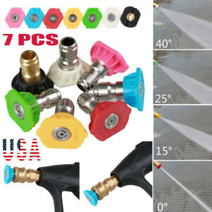 7pcs set 5000psi Power Pressure Washer Spray Nozzle Tips Quick Connect 0 64 Us
