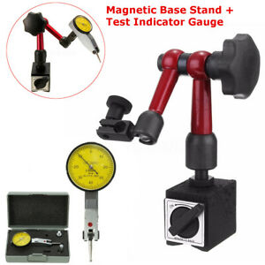 Us Universal Flexible Magnetic Metal Base Holder Stand Dial Test Indicator Kit