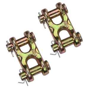 3 8 Double Clevis Hook Grade 70 2 Pack