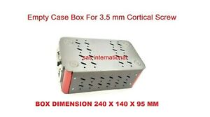 Orthopedic Empty Case Box For 3 5 Mm Cortical Screw Surgical Instruments