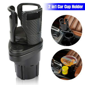 2in1 Multifunction Auto Car Seat Cup Holder Water Bottle Drink Coffee Adjustable