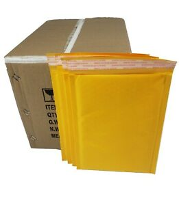 Pack 90 In Box 9 X 12 Inches Usable Size Yellow Kraft Bubble Mailers Envelopes
