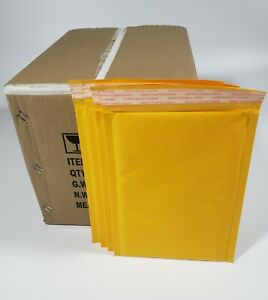 Pack 90 In Box 10 X 12 Inches Outside Size Yellow Kraft Bubble Mailers Envelopes