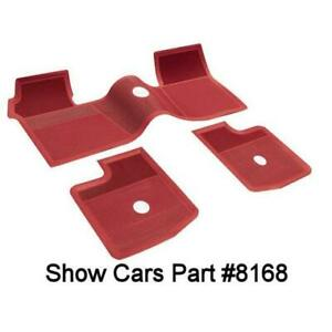 1961 1962 1963 1964 Chevrolet Original Type Impala Rubber Floor Mats Red 3 Pcs