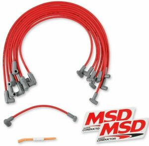Msd Ignition 35599 8 5mm Red Spark Plug Wires Chevy Small Block Hei Under Header