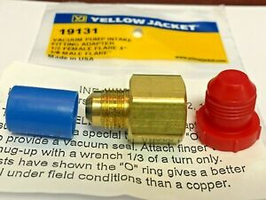 Ritchie Yellow Jacket Vacuum Pump Adapter 1 2 fm X 3 8 Male Flare Part 19131