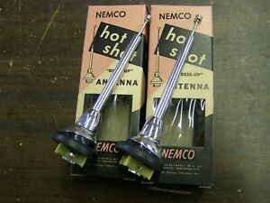 Nos 1950 s Aftermarket Hot Shot Antenna Pair Ford Chevrolet Dodge Gm 1957 1958