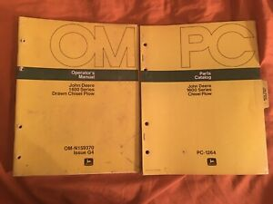 John Deere 1600 Series Chisel Plow Parts Catalog And Operators Manual