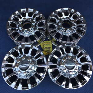 18 Ford F 250 F250 F350 Excursion Chrome Factory Wheels Rims Oem Lc3c 1007 Ea