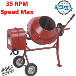 Portable Cement Mixer Concrete Use For Small Construction Works 1 1 4 Cubic Ft