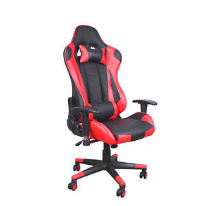 High back Ergonomic Office Gaming Chair Recliner Racing Swivel Desk Chair Red