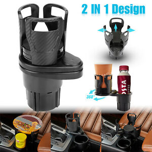 2in1 Cup Drink Bottle Holders Universal 360adjustable For Car Auto Interior