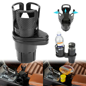 2 In 1 Multifunction Car Seat Double Cup Holder Water Bottle Drink Coffee Auto