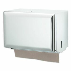 San Jamar T1800wh White Single fold Towel Dispenser