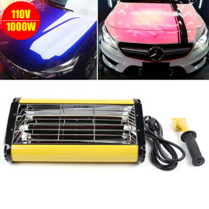 110v Spray baking Booth Infrared Paint Curing Lamp 1000w Heating Light Heater Us