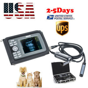 Us Digital Handheld Ultrasound Scanner Machine Animal Rectal Probe Veterinary Ce