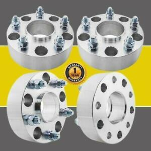 4pc 2 Thick 5x5 5 Hub Centric Wheel Spacers For 2002 2013 Ram 1500 9 16 Studs