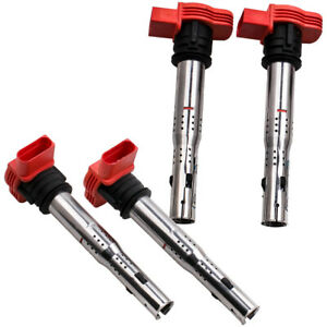 Set Of 4 Ignition Coil Pack For Audi A4 A5 R8 Vw Golf Gti 2 0t Fsi 06e905115e