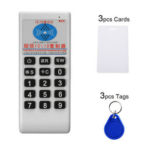 Ic Nfc Id Card Rfid Writer Copier Reader Duplicator Access Control 6 Cards Eraw