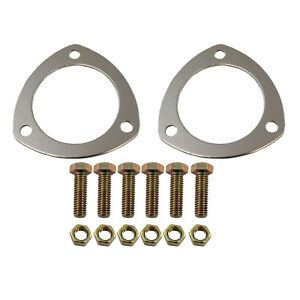 3 Triangle Soft Crush Aluminum Header Collector Gaskets With Bolts 3in