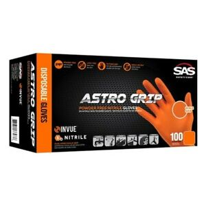 Sas Safety Astro Grip Nitrile Gloves Box Of 100 X Large Free Shipping