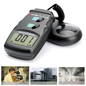 High Accuracy 50 000 Lux Digital Lcd Light Meter Photometer 3 Range Luxmeter