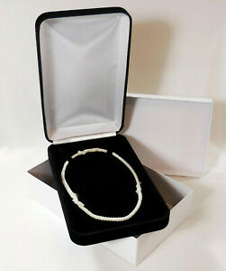 Elegant Black Velvet Jewelry Presentation Gift Box For Beads Pearls Necklaces
