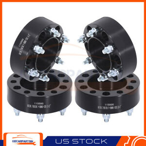 4 2 Wheel Spacers 6x5 5 To 6x5 5 12x1 5 Studs For Toyota Chevrolet Gmc Black
