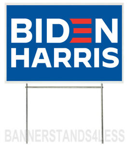 18x12 Inch Biden Harris Yard Sign With Stake Bb1s