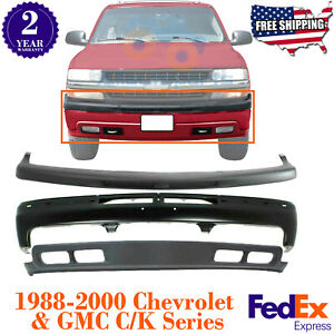 Front Bumper Primed Steel Kit For 1999 2002 Chevy Silverado 1500 00 04 Tahoe