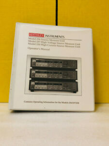 Keithley 236 900 01 237 238 High Voltage Current Source Measure Unit Manual