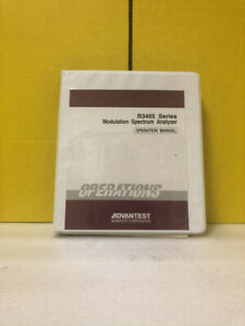 Advantest Oeg00 9707 R3465 Series Modulation Spectrum Analyzer Operation Manual