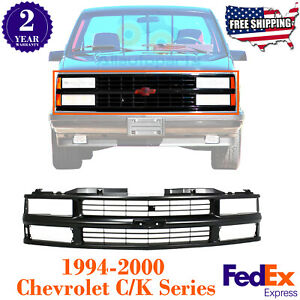Grille Paintable For 1994 2000 Chevrolet C k Series 1994 1999 Suburban Tahoe