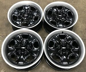 Chevy Camaro 18 Factory Oem Black Steel Wheels Rims W Trim Rings 5440 2307
