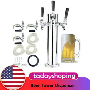 Stainless Steel Beer Faucet Draft Tower Triple Tap For Home Bar Beer Dispenser