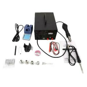 853d 3 In 1 Soldering Station hot Air Rework Station dc Power Supply 800w New