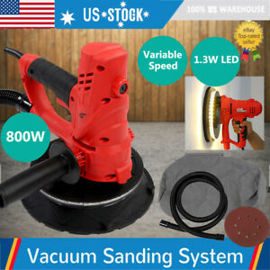Electric Handheld Drywall Sander 800w Variable Speed With Vacuum Led Light Us