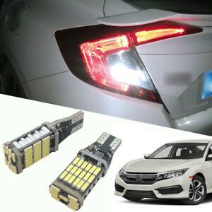 2 Bright Hid White Backup Reverse Lights 921 Led Bulbs For Honda Civic 2001 2020