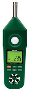 Extech En300 Environmental Meter 5 in 1 Air Speed Light Temp Sound Humidity