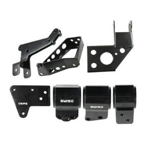 Black Engine Swap Mounts For Civic 92 95 Integra 94 01 K Series Swap K24 K20 62a
