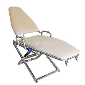 Dental Surgical Medical Portable Folding Chair Adjustable With Cuspidor Holder