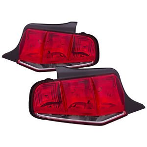 Tail Lights Set Pair Driver Lh And Passenger Rh For 2010 2011 2012 Mustang