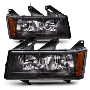 Fits 04 12 Chevy Colorado Gmc Canyon Headlights Headlamps Pair Set Halogen New