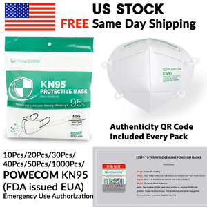 10 1000 Pack Powecom Eua Approved Kn95 Protective Face Mask Respirator K n95