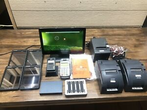 Elo Toast Point Of Sale Touch Screen Samsung Tablet Ingenico Pos System Lot