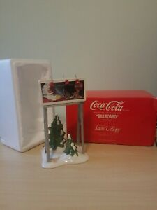 Dept 56 Snow Village Coca-Cola Billboard - 54810  Retired