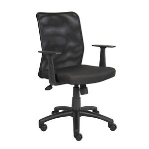 Homepro Mesh Task Chair Black Mesh Fabric T arms Pneumatic Lift Style