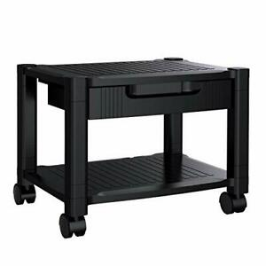 Printer Stand Under Desk Printer Stand With Cable Management Storage Draw